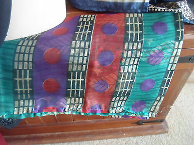 5 NEW Colourful Mixed Fibre Scarves Asian Pakistani Indian Short Duppata  #48