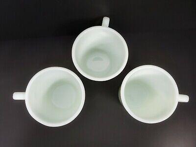 Vintage Retro 3 Pyrex Green Flowers No 1410 Mugs Coffee Cups 300 ml 10.14 oz. 9