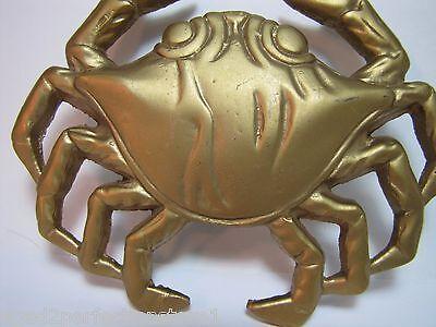 Vintage Figural Brass Crab Door Knocker unique architectural ornate details 3
