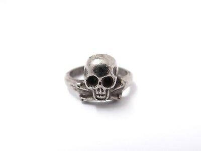 Totenkopf Ring Military Biker Skull Kelten Gothic Mittelalter Größe 56 Unisex