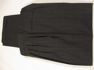 Pal Zileri Mens Charcoal Stripe 2 Btn Cerruti 1881 S120s Suit 42R Italy Made 6