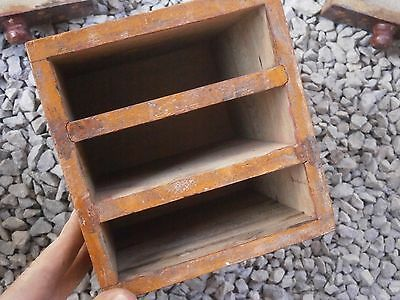 Antique Vintage Wooden Box Wiht Tree Drawers Beautiful Painting 9