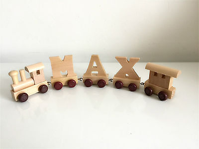 Personalised wooden name train : Use wooden letters to spell a personalised name 4