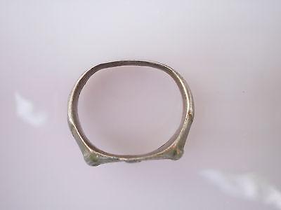 Superb ANCIENT RARE Viking Silver FINGER RING  Signet  ca 8 - 10 century AD #1 2