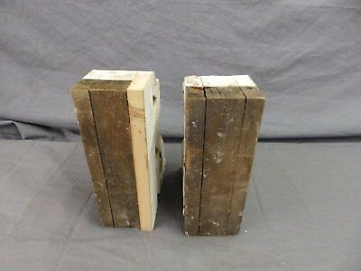 Antique Pair Wood Small Corbel Victorian Architectural Shabby Vtg Chic 506-17P 12