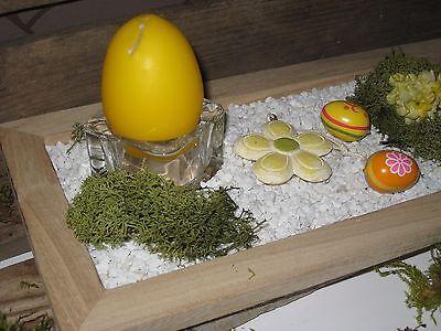 Holztablett Kerzen Fruhling Deko Holzschale Ostersdeko Tischdeko