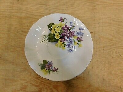"""Paragon, """"flower festival c"""" tea cup with saucer, made in england 7"""