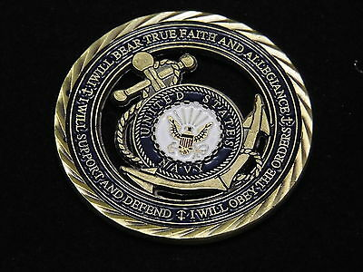 U.S. Navy / Core Values - USN Challenge Coin Naval Collectible Sailor 4