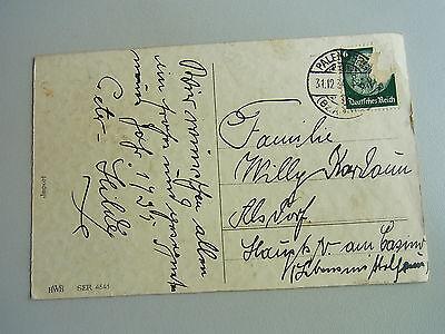 Geld-AK 1934 / Glückwunsch zum NEUJAHR / Glücksklee & GELD (Münzrollen, Scheine)