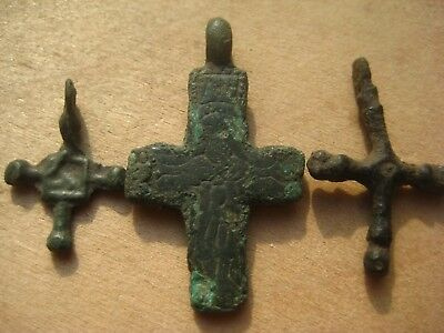 ANCIENT BYZANTINE Scandinavian RELIQUARY CROSS 10-12 century AD 7
