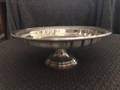 Vintage Revere Silversmiths Sterling Silver Round Pierced Pedestal Bowl Dish 7