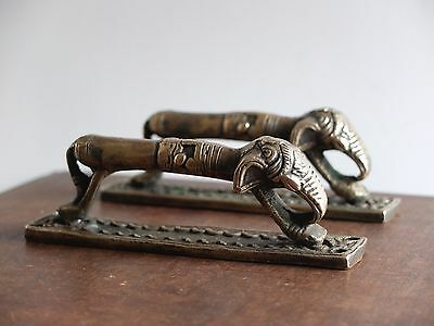 VINTAGE ANTIQUE STYLE SOLID BRASS PAIR OF CABINET DOOR HANDLES ....DRAWER PULLS