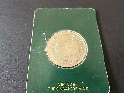 Pope John Paul 2 Singapore Visit Coin 20 Nov 1986 Unc Mint 2