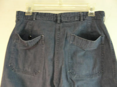 GENUINE WW2 US NAVY USN BLUE DENIM PANTS DUNGAREE TROUSERS WWII 29x28 VINTAGE 6