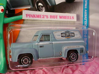 2017 Matchbox #17 /'55 FORD F-100 DELIVERY TRUCK☆blue;City ☆Adventure☆Case A//B