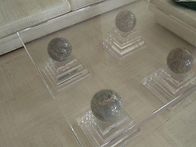 Luxusdesign Wohnzimmertisch Marmor Acryl Plexi Massiv Tisch