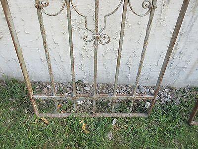 Antique Victorian Iron Gate Window Garden Fence Architectural Salvage #768 4