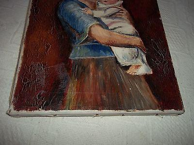 Lbild mutter mit kind leinwand holz dr fr schoenfeld - Dusseldorf bilder auf leinwand ...