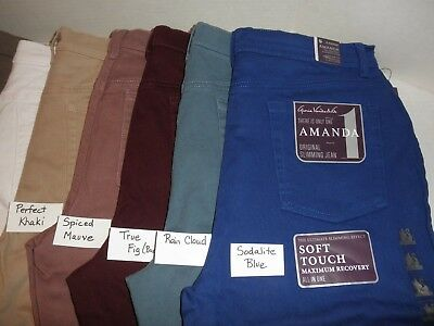 NWT $40 Ladies Gloria Vanderbilt Amanda STRETCH pants Colored 5 pocket Jeans