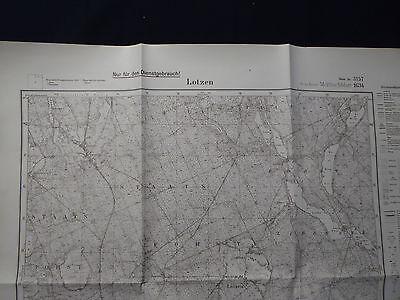 Landkarte Meßtischblatt 3157 Lotzen i.d. Neumark, Krs. Soldin, Landsberg, 1934
