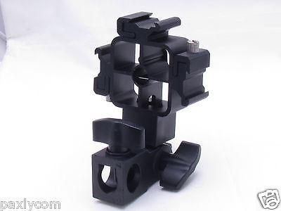 9 Of 11 Tri Hot Shoe Mount Flash Bracket Umbrella Holder For Canon 580EX II 430EX