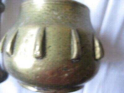Bronze Mörser o. Messing Mörser   Stößel Rippenmörser Pistill Versand erst 28.11 4