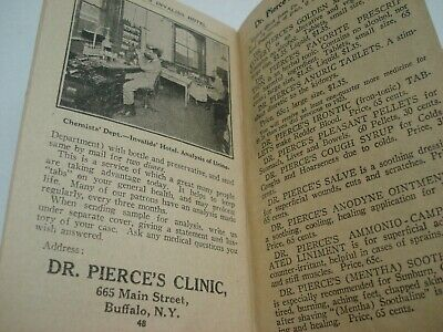 1929 Dr Pierce's Memorandum & Account Book Quack Medicine Tract Book 7