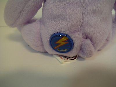 "Ty 2.0 Beanie Babies~Love To Mom~8""~Purple Bear~New~2007~W/ Code~Mwmt~Free S/h"