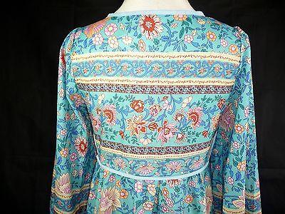 robe bohème bleu turquoise