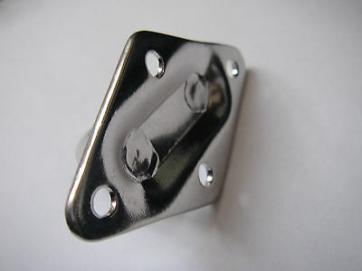 Pontet inox Sur Platine Losange 36x59mm ( Lot de 5 ) inox A2 3