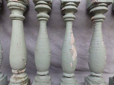 1 Antique Turned Wood Spindle Porch Baluster Thick Old Vtg Architectural 540-17R 9