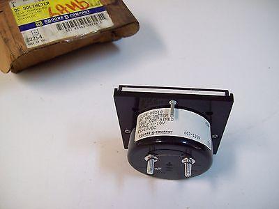 Square D Cle8-V3D10 Dc Voltmeter 0-10V Gauge - New - Free Shipping! 3