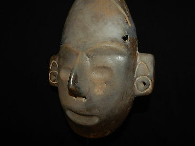 Pre-Columbian Life-Size Colima Death Mask, Shaft Tomb, Archaic, 100% Authentic 6