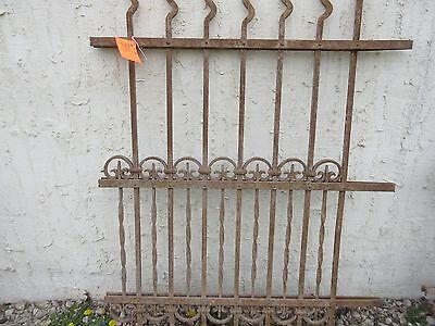 Antique Victorian Iron Gate Window Garden Fence Architectural Salvage Door #311 4