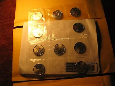 Canada War Of 1812 Salaberry 10 Quarters Pack RCM Plain And Red Mint Set. 2