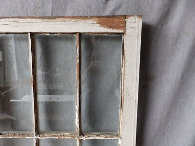 Antique French Door Window Cabinet Bookcase Casement Vtg Shabby 61x22 186-17P 9