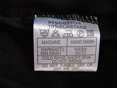"Girls/Ladies Cycle Shorts BLACK sz L (34-36"" Waist) Cotton/Elastane UK Made NEW 8"