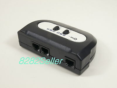 2 PORT TEL RJ11 RJ12 Manual High Quality Switch BOX Phone selector modular 2way