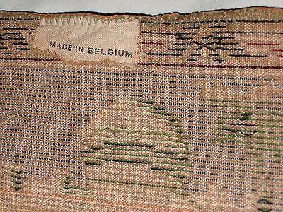 BELGIUM Made, Vintage Rug Wall Hanging Tapestry w Fringe, Woman Dancing SUPERB! 10