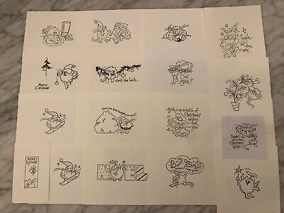 Stampendous Fluffles Cat Stamp Stamped IMAGES on CARDSTOCK ONLY - Your Choice 9