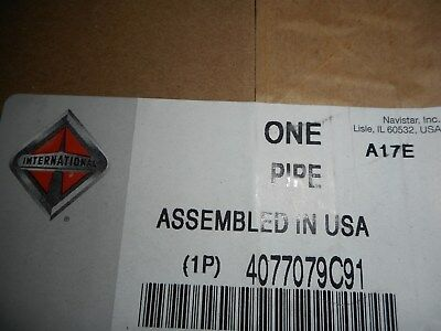4077079C91 GENUINE INTERNATIONAL Turbocharger Pipe Assembly Navistar Ships  Free