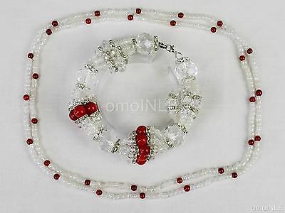 Hermoso Ilde De Obatala Osha Griñan Orisha Idde Mazo Nacar And Glass Beads Santo