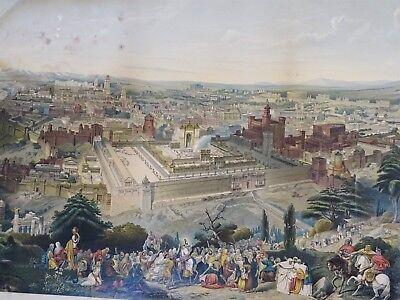 SUPER RARE Lithograph Print- Jerusalem 1903 by Palestine Art League Buffalo NY 7