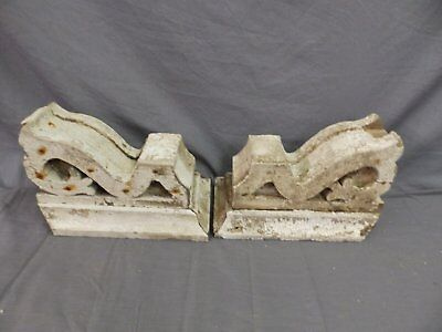Antique Pair Corbels Wood Small Victorian Architectural Shabby Vtg Chic 517-17P 11