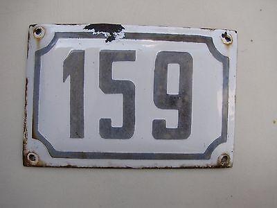 vintage ISRAELI enamel porcelain sign number 159 house sign # 159 CHRISTMAS SALE 2