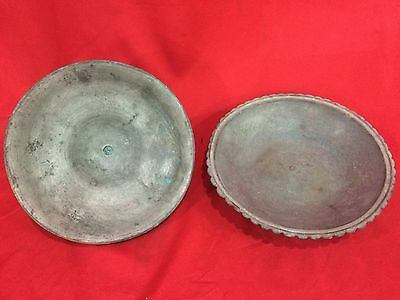 Gorgeous Antique Islamic Bronze Plate Ottoman Handmade Imperial Plate Persian 6