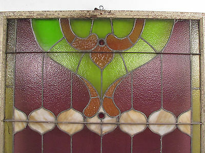 Antique Vintage Hanging Stained Glass Window (1323)NJ 6