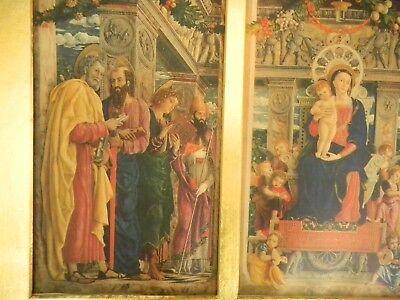 Quadro Di Vecchia Stampa F.lli Alinari - Trittico Di Andrea Mantegna 2