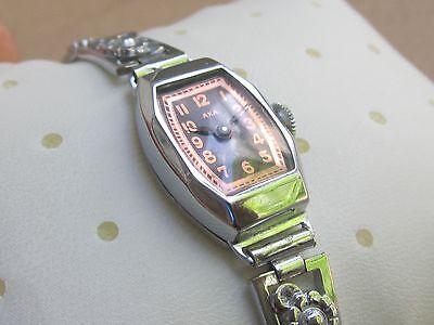 "WOW! NOS Art Deco Swiss Ladies'watch ""AXA""15j, -30s 10"