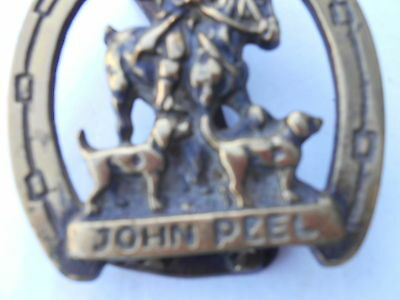 1950S 60S Brass John Peel Door Knocker